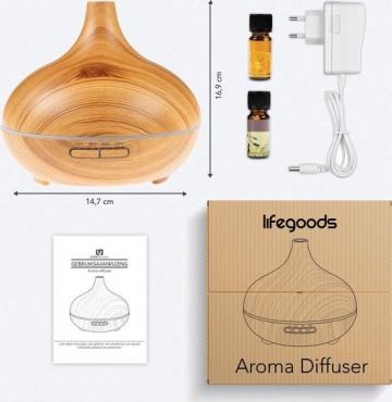 LifeGoods Aroma Diffuser 300ML geur