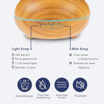 LifeGoods Aroma Diffuser 300ML stappenplan