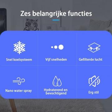 Coldine mini aircooler functies